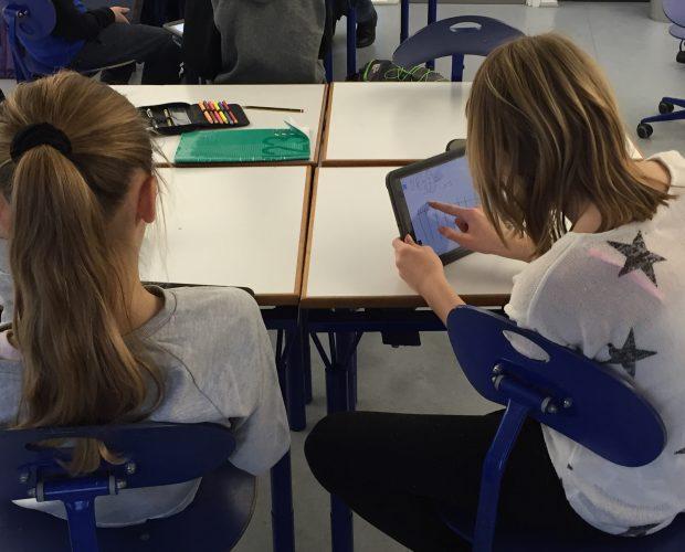 iPads i brug i matematiktime på Vestermatkskolen